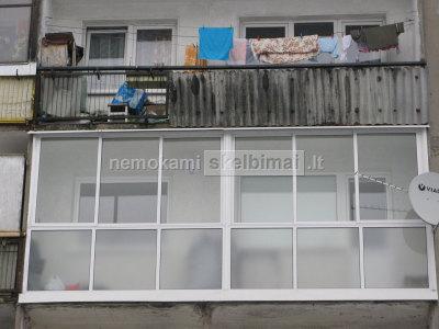 Balkonu, terasu, pavesiniu stiklinimas aliuminio konstrukcijomis