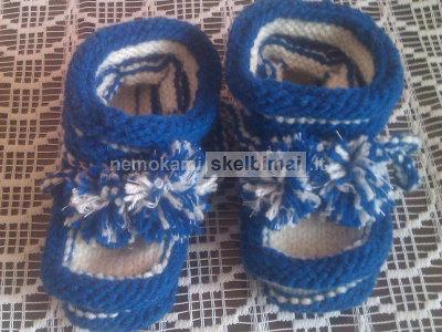 Šiltos megztos kojinaitės ir bateliai kūdikiams