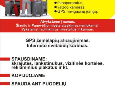 GPS NAVIGACINĖS ĮRANGOS REMONTAS, ATNAUJINIMAS ŠIAULIUOSE