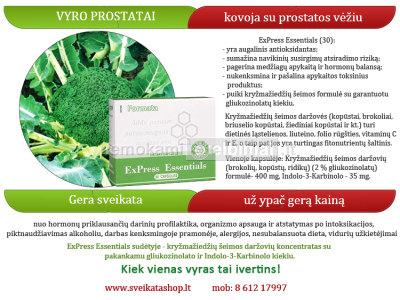 VYRAMS - kovoja su prostatos vėžiu, profilaktika - ExPress Essentials 30, Santegra USA