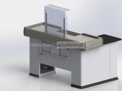 Nauji kasos stalai savitarnos parduotuvėms