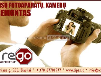 VISŲ fotoaparatų vaizdo kamerų REMONTAS Šiauliuose