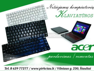 ACER nešiojamų kompiuterių klaviatūros, pardavimas remontas