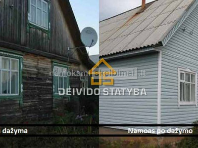 Dažome Medinius namus, po visą Lietuvą