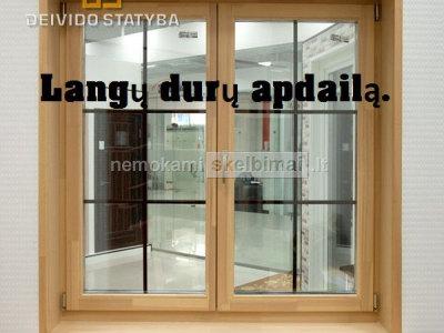 Plastikinių langų ir durų apdailą