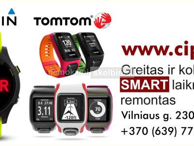 TomTom Garmin įvairių SMART laikrodžių remontas taisykla paslaugos Šiauliai www. cipas. lt