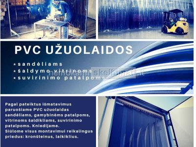 PVC juostų užuolaidos sandėliams, gamybinėms patalpoms
