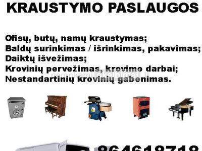 Kraustymo, įrengimų, bei transportavimo paslaugos