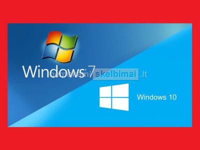 Windows 7, Windows 10 įrašymas Fabijoniškėse, Šeškinėje, Vilniuje