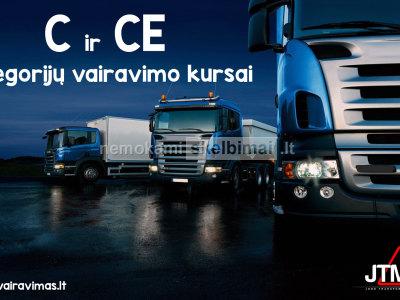 C, CE kategorijų vairavimo kursai