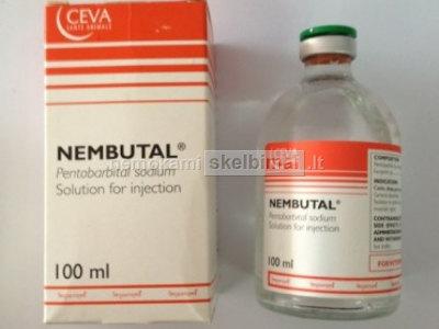 Nembutal milteliai, tabletes ir skystas produktas