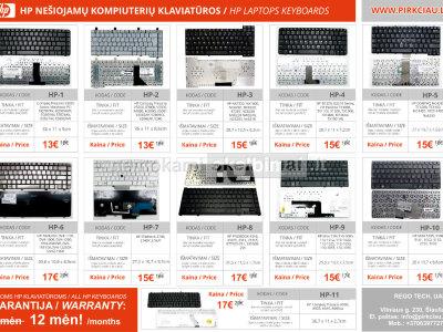 PIGIAUSIAI. HP nešiojamo kompiuterio klaviatūra, keyboard, klava, klavetura