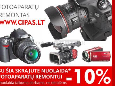 VISŲ fotoaparatų vaizdo kamerų REMONTAS