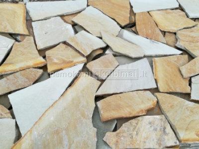 Natūralus, gamtinis akmuo. Akmuo vidaus bei išorės apdailai, landšafto dizainui