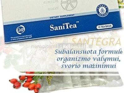 SaniTea 15 pak, arbata lieknejimui - SANTEGRA