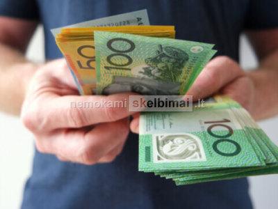 Finansinė parama paskolos suteikia asmenims