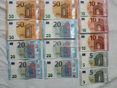 parduodami aukštos kokybės neaptinkami banknotai
