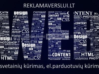 Internetinių svetainių kūrimas. web sprendimai