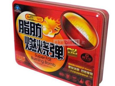 Lieknejimo papildas - super fat burning bomb red 30kaps
