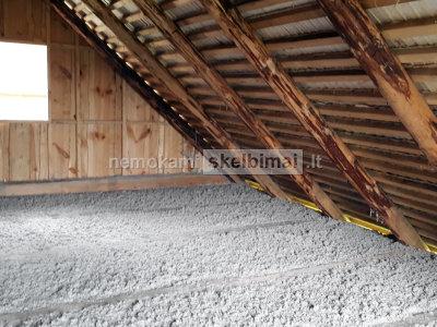 Pastatų, sienų, stogo, perdangos šiltinimas ekovata