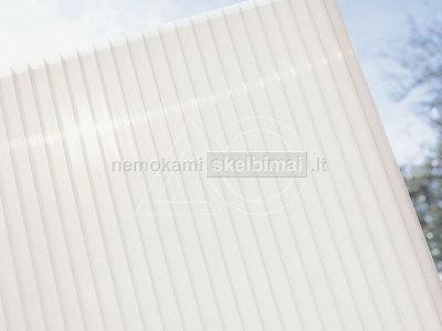 25 mm baltos spalvos kanalinis polikarbonatas su - 60 nuolaida
